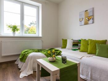 obývací pokoj - Prodej bytu 2+1 v osobním vlastnictví 75 m², Chrášťany