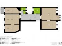2D plánek (Prodej bytu 4+1 v osobním vlastnictví 133 m², Praha 1 - Nové Město)