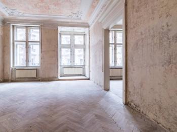 Obývací pokoj  - Prodej bytu 4+1 v osobním vlastnictví 133 m², Praha 1 - Nové Město