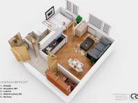 Půdorys - Prodej bytu 2+kk v osobním vlastnictví 34 m², Neratovice