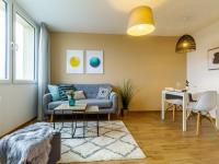 obývací pokoj - Prodej bytu 2+kk v osobním vlastnictví 34 m², Neratovice