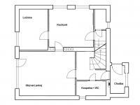 Půdorys 1.NP, rodinný dům - Prodej domu v osobním vlastnictví 160 m², Jesenný