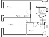Půdorys 2.NP, rodinný dům - Prodej domu v osobním vlastnictví 160 m², Jesenný