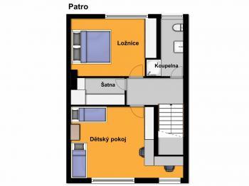 Vize pro rodinu - patro 2D - Prodej domu v osobním vlastnictví 90 m², Kostelec nad Černými lesy