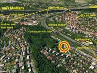 Letecká mapa lokality s vyznačením významným bodů v okolí - Prodej bytu 2+kk v osobním vlastnictví 60 m², Praha 4 - Braník