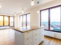 Obývací pokoj s kuchyňským koutem - Pronájem bytu 5+kk v osobním vlastnictví 145 m², Praha 5 - Košíře