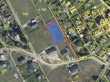 Ortofoto mapa - Prodej pozemku 856 m², Hvozdnice