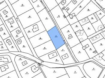 Katastrální mapa - Prodej pozemku 856 m², Hvozdnice