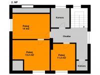 Plánek 2. NP - Prodej domu v osobním vlastnictví 140 m², Kounice
