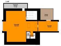 Plánek 3. NP - Pronájem kancelářských prostor 342 m², Praha 5 - Jinonice