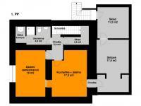 Plánek 1. PP - Pronájem kancelářských prostor 342 m², Praha 5 - Jinonice