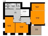 Plánek 2. NP - Pronájem kancelářských prostor 342 m², Praha 5 - Jinonice