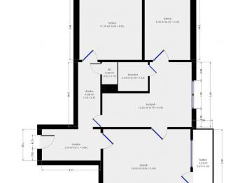 Prodej bytu 3+1 v osobním vlastnictví 64 m², Praha 10 - Malešice