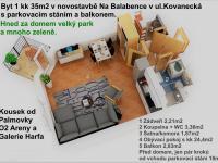Prodej bytu 1+kk v osobním vlastnictví, 35 m2, Praha 9 - Libeň