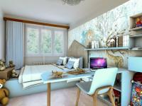 Vizualizace dětského pokoje - Prodej bytu 3+1 v osobním vlastnictví 71 m², Praha 5 - Radlice