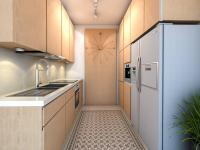 vizualizace kuchyně - Prodej bytu 3+kk v osobním vlastnictví 62 m², Praha 4 - Háje