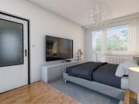 vizualizace ložnice - Prodej bytu 3+kk v osobním vlastnictví 62 m², Praha 4 - Háje