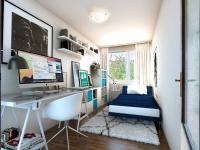 vizualizace pracovny - Prodej bytu 3+kk v osobním vlastnictví 62 m², Praha 4 - Háje