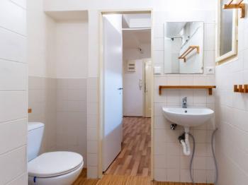 Koupelna - 3,3 m2 - Prodej bytu 2+kk v osobním vlastnictví 43 m², Praha 10 - Strašnice