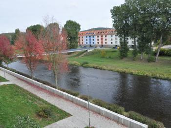 Pohled z balkonu - Prodej bytu 3+1 v osobním vlastnictví 82 m², Písek