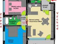 Pronájem bytu 3+kk v osobním vlastnictví, 83 m2, Praha 5 - Zličín