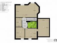 Plán podkroví - Prodej domu v osobním vlastnictví 205 m², Horoměřice
