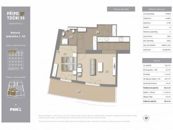 Prodej bytu 2+kk v osobním vlastnictví, 70 m2, Praha 10 - Vršovice