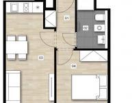 2+KK 5303 - Prodej bytu 2+kk v osobním vlastnictví 34 m², Praha 2 - Vinohrady
