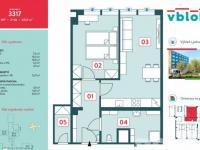 Prodej bytu 2+kk v osobním vlastnictví, 52 m2, Praha 5 - Jinonice