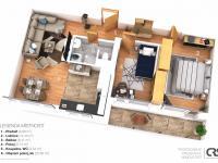Návrh možné dispozice - Prodej bytu 3+1 v osobním vlastnictví 65 m², Praha 10 - Strašnice