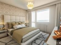 Vizualizace ložnice - Prodej bytu 3+1 v osobním vlastnictví 65 m², Praha 10 - Strašnice