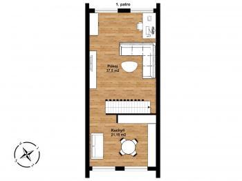 Prodej domu v osobním vlastnictví, 180 m2, Praha 8 - Kobylisy