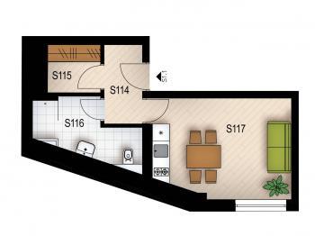 Prodej bytu 1+kk v osobním vlastnictví 23 m², Praha 5 - Jinonice