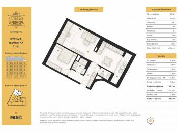 Prodej bytu 2+1 v osobním vlastnictví, 75 m2, Praha 3 - Žižkov