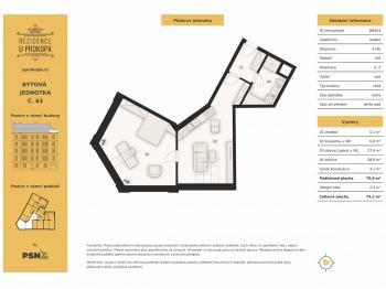 Prodej bytu 2+kk v osobním vlastnictví, 65 m2, Praha 3 - Žižkov