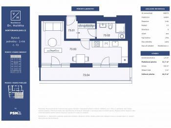 Prodej bytu 1+kk v osobním vlastnictví, 44 m2, Praha 8 - Libeň
