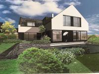 Navržený a schválený RD (Prodej pozemku 1536 m², Zlatá)
