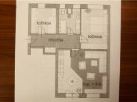 půdorys bytu (Prodej bytu 3+kk v osobním vlastnictví 68 m², Praha 9 - Horní Počernice)
