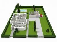 půdorys - pozemek (Prodej domu v osobním vlastnictví 330 m², Hradec Králové)