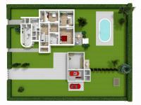půdorys pozemku (Prodej domu v osobním vlastnictví 330 m², Hradec Králové)
