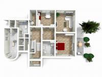 půdorys - 1.NP (Prodej domu v osobním vlastnictví 330 m², Hradec Králové)