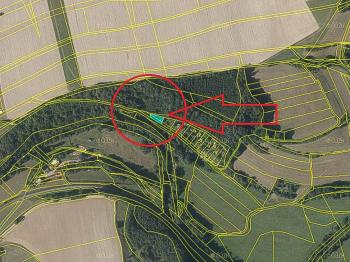 mapa - Prodej pozemku 365 m², Záchlumí