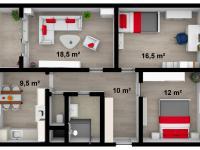 Prodej bytu 3+1 v osobním vlastnictví 72 m², Pardubice