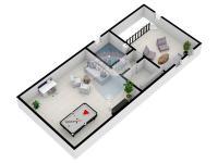 půdorys podkoví - Prodej domu v osobním vlastnictví 190 m², Býšť