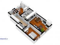 půdorys bytu - Prodej bytu 3+kk v osobním vlastnictví 114 m², Častolovice