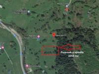 mapa umístění pozemku - Prodej pozemku 3259 m², Pec pod Sněžkou