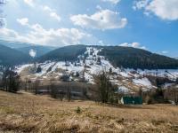 výhled z pozemku - Prodej pozemku 3259 m², Pec pod Sněžkou