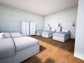 byt A velký pokoj - Pronájem domu 296 m², Hradec Králové