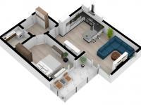 Prodej bytu 2+kk v osobním vlastnictví 55 m², Hradec Králové