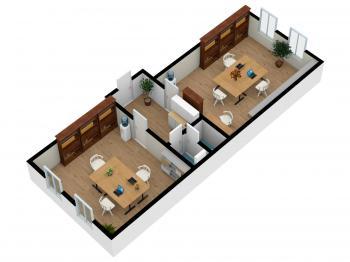 Pronájem komerčního prostoru (kanceláře) v osobním vlastnictví, 61 m2, Hradec Králové